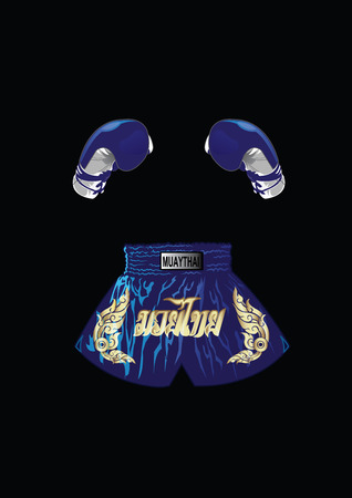 boxer shorts: Boxing gloves and thai boxer shorts