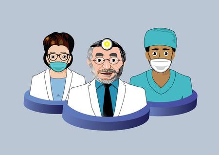 dental braces: Tres iconos dentista