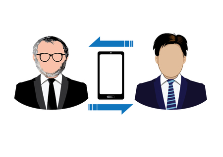 connecting: Connecting people icons Illustration