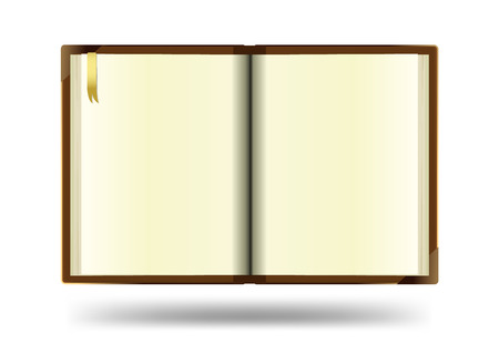 open notebook: Open notebook with white background