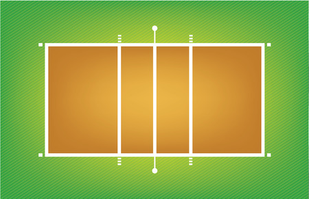touchline: Illustration of volleyball court or field Illustration