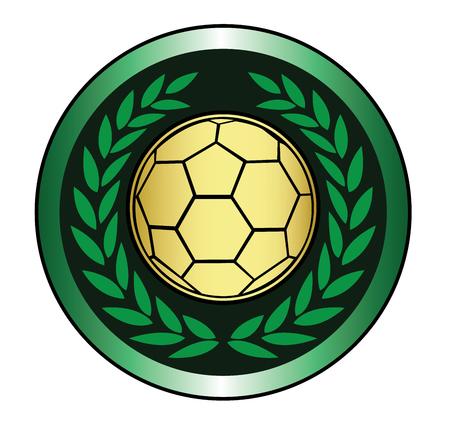 Golden soccer ball icon