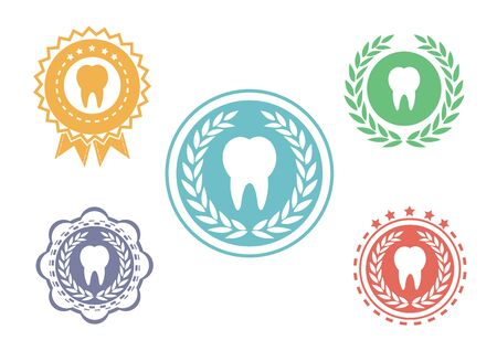 stomatologist: Tooth icons set,Tooth logo set,Tooth label set
