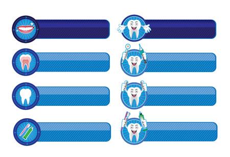 cavity braces: Dental banner set