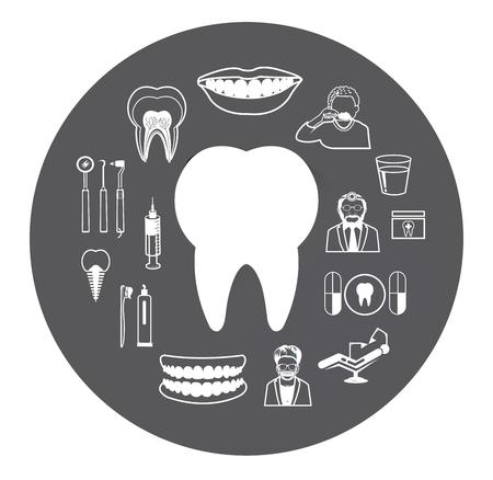 caries dental: Iconos dentales fijaron