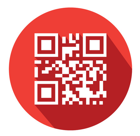 qrcode: Modern flat business QR-Code icons with long shadow effect Illustration