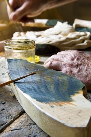 Artist paints a sculpture Stock Photo - 10436031