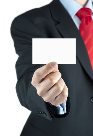 A businessman offering business card Stock Photo - 10435913
