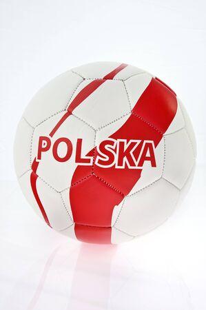 Soccer ball signed Poland