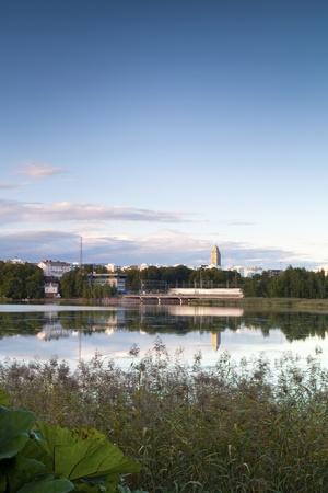 scandinavian peninsula: Helsinki panorama - lake view Stock Photo