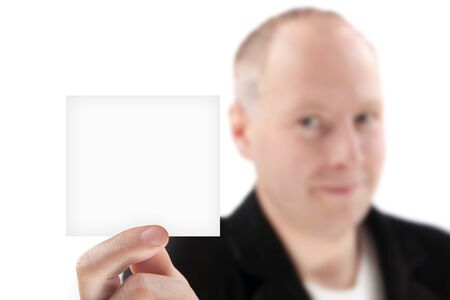A businessman showing piece of paper Stock Photo - 11431739