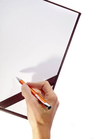Board with Writing Hand and Pen