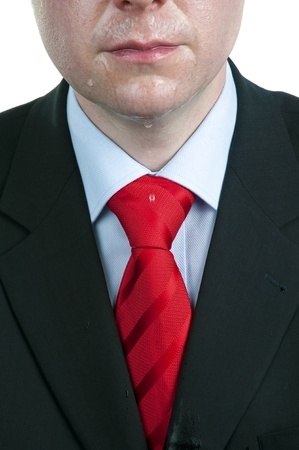 Close-up of Sweaty Businessman photo