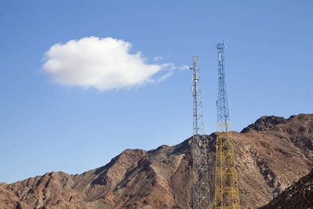 Communications Tower, Mountains and Cloud photo