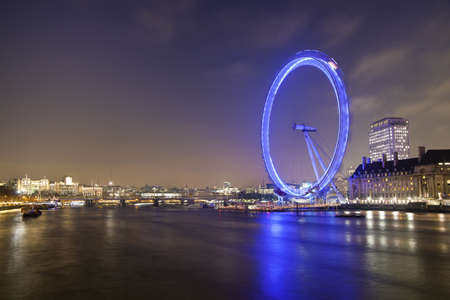 View of Millennium Wheel from Westminster Bridge