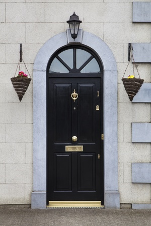 Elegance, Black Front Door of Colonial House