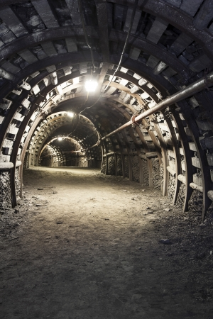 Illuminated, Underground Tunnel in the Minery photo