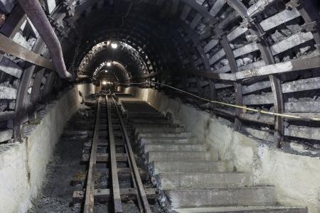 mine: Illuminated, Underground Tunnel in the Mine
