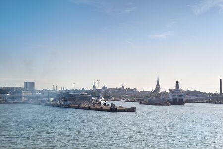 View of Tallinn -  from the sea, Estonia photo