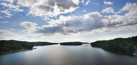 scandinavian peninsula: Skerry coastline in Finland Stock Photo