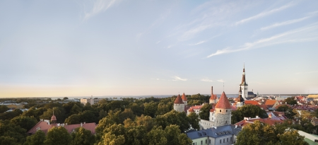 Panoramic View of Tallinn Stock Photo - 15019099