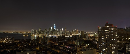 New York by night - view from Brooklyn Hights on Manhattan photo