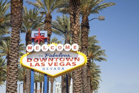 Welcome to Fabulous Downtown Las Vegas Sign Stock Photo - 15724224
