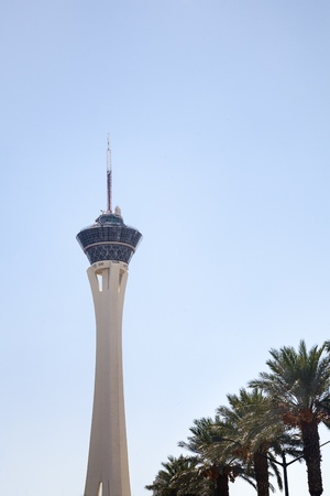 north   end: Stratosphere Hotel and Casino is located on the north end of Las Vegas Strip  Editorial