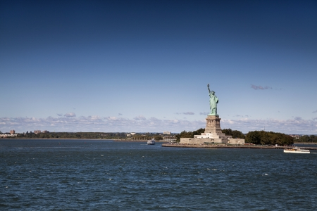 View of Statue of Liberty from ferry photo