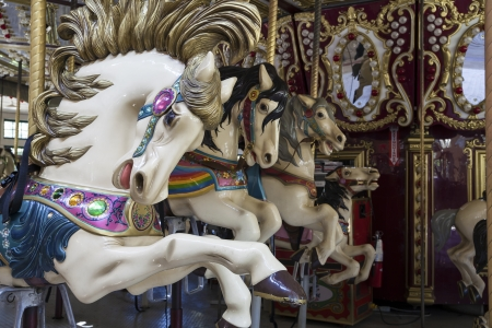 Carousel White Horses