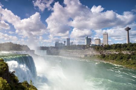 niagara falls city: Niagara Falls  American Falls, New York State, USA   Horseshoe Falls  Ontario, Canada
