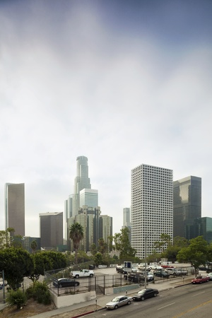 Downtown of L A   skyscrapers, office building, car park Stock Photo - 17091872