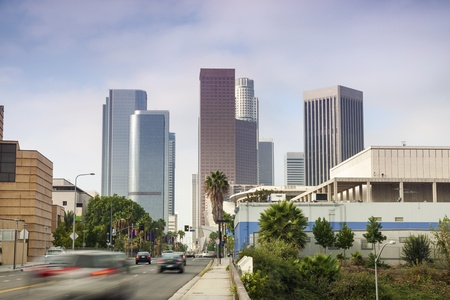 Entrance to Financial District in Los Angeles, California photo