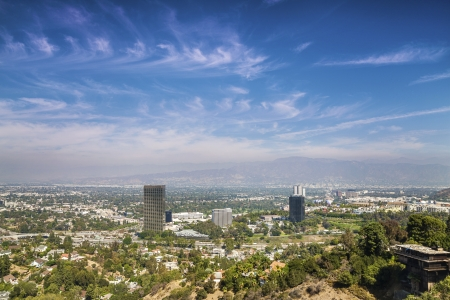 beverly hills: Panorama of Los Angeles taken from Beverly Hills