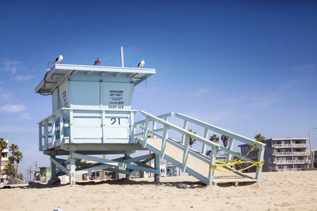 Closed lifeguard station, Venice Beach, Santa Monica photo