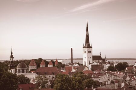 Panoramic View of Tallinn including St Olaf photo