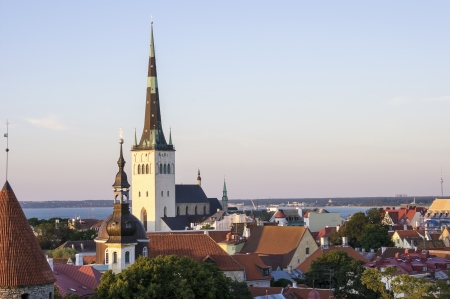 Panoramic View of Tallinn including St Olaf Stock Photo - 18234736