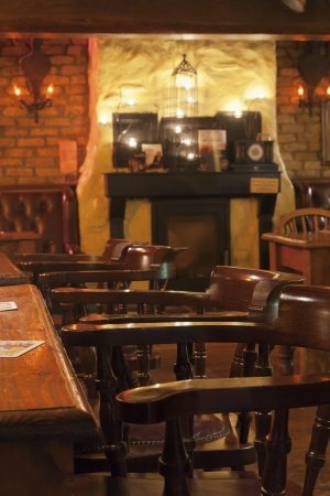 Irish or British Pub inviting guests Stock Photo