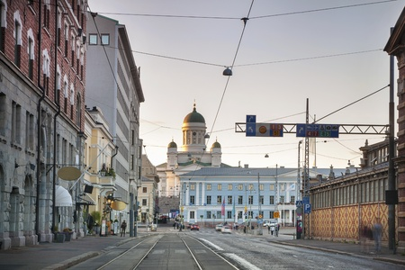 Landmarks of Helsinki  Cathedral, City Hall and Kauppatori Stock Photo - 18451138