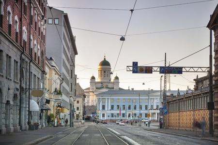 Landmarks of Helsinki  Cathedral, City Hall and Kauppatori Stock Photo - 18451138