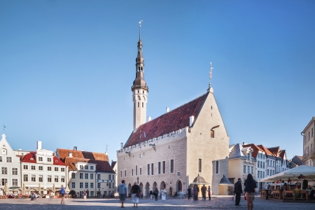 Gothic Town Hall in city centre of Tallin Stock Photo - 18526927
