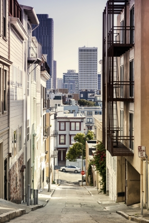 Step Street in San Francisco, California, USA Stock Photo - 18575746