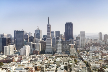 Panorama of Business Center in San Francisco  Stock Photo - 18575763