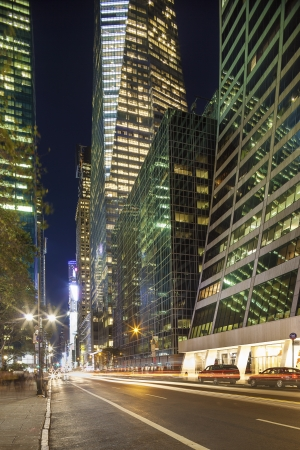 Midtown Manhattan  Skyscrapers, street near Bryant Park Stock Photo - 19052892