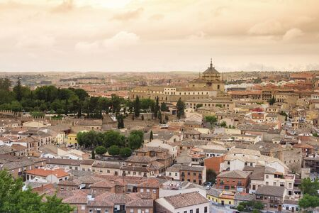 toledo town: Panorama of Old town of Toledo - former capital city of Spain