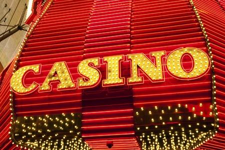 seven deadly sins: Casino Sign in Las Vegas, Nevada, USA