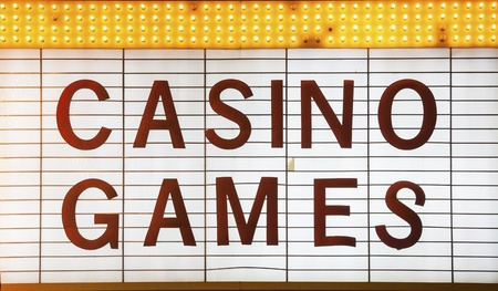 Casino Games Sign in Las Vegas, Nevada, USA Stock Photo - 21418113