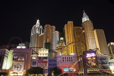 Las Vegas, USA - October 1, 2012  Landmarks of The Las Vegas Strip Stock Photo - 21418115