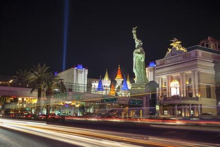 Las Vegas, USA - October 1, 2012  Landmarks of The Las Vegas Strip Stock Photo - 21418116