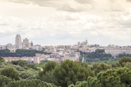 Madrid skyline with a dramatic sky Stock Photo - 23045702